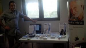 En exposition, le détecteur de fumée connecté, le matériel de télésurveillance et notre nouvel équipement de téléassistance.